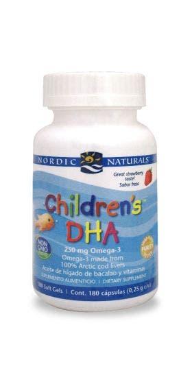 Nordic Naturals Children's DHA Omega 3 para niños Fresa - 180 Cápsulas