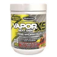 Muscletech Vapor X5 Pre-entrenador - Ponche de Frutas