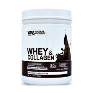 Optimum Nutrition Whey & Collagen Proteína de suero de leche y Colágeno - Chocolate Obscuro