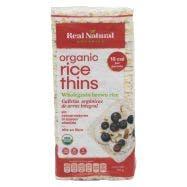 Real Natural Organics Tortitas Orgánicas de Arroz Integral