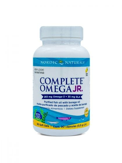 Nordic Naturals Complete Omega 3 para adolescentes Limón - 90 Cápsulas