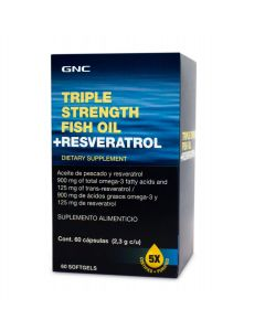 GNC Triple Strength Fish Oil + Resveratrol