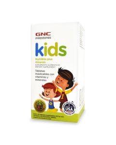 GNC Milestones Kids Multibite Multivitamínico para Niños Masticable - Uva