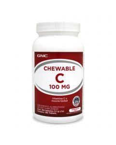GNC Vitamina C masticable 100 mg