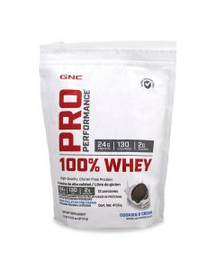 GNC Pro Performance 100% Whey Protein -Galletas con Crema