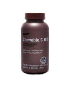 GNC Vitamina C masticable 100 mg -Frutas