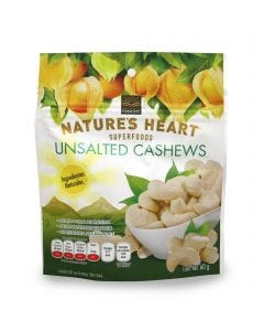 Natures Heart Unsalted Cashews