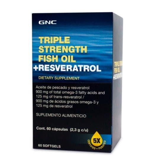 GNC Aceite de Pescado + Resveratrol - 60 Cápsulas