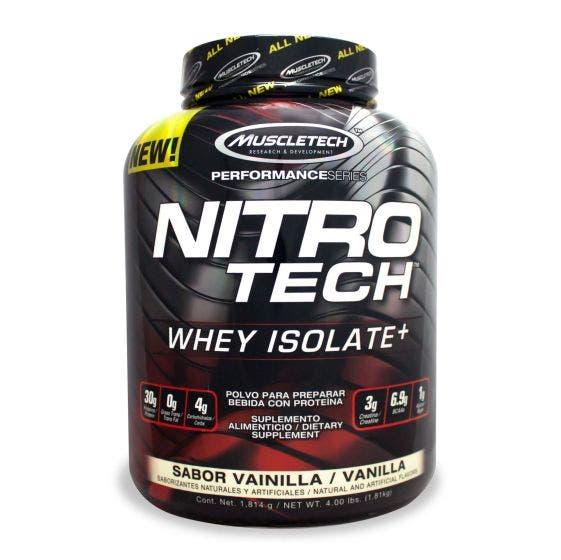 Muscletech Nitro Tech Mezcla de péptidos y Proteína aislada de suero de leche Vainilla - 4 lb