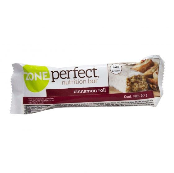 Zone Perfect Barra Snack -Rollo de Canela