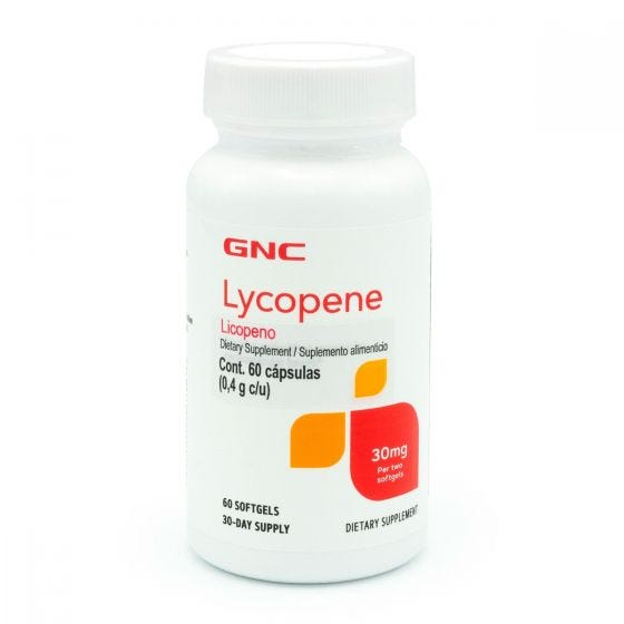 GNC Licopeno 30 mg - 60 Cápsulas