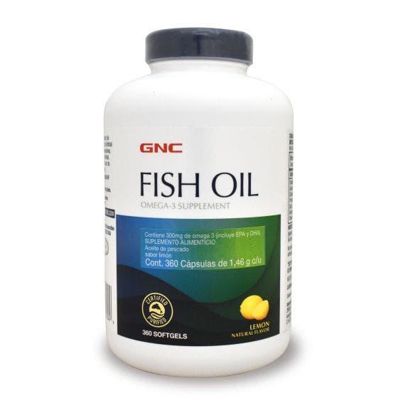 GNC Aceite de Pescado Omega 3 Limón - 360 Cápsulas