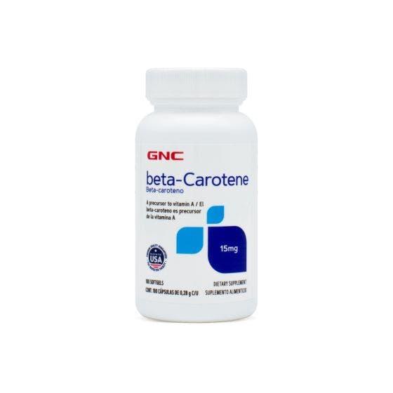 GNC Beta Caroteno Sin Sabor - 180 Capsulas