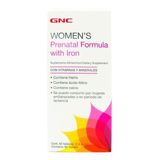 GNC Women's Fórmula Prenatal con Hierro - 60 Tabletas