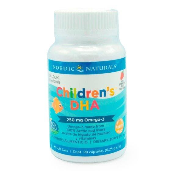 Nordic Naturals Children's DHA Omega 3 para niños Fresa - 90 Cápsulas