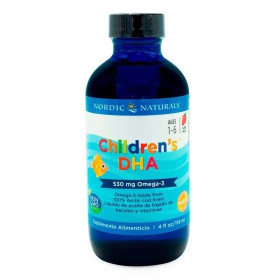 Nordic Naturals Children's DHA Omega 3 líquido para niños Fresa - 119 ml