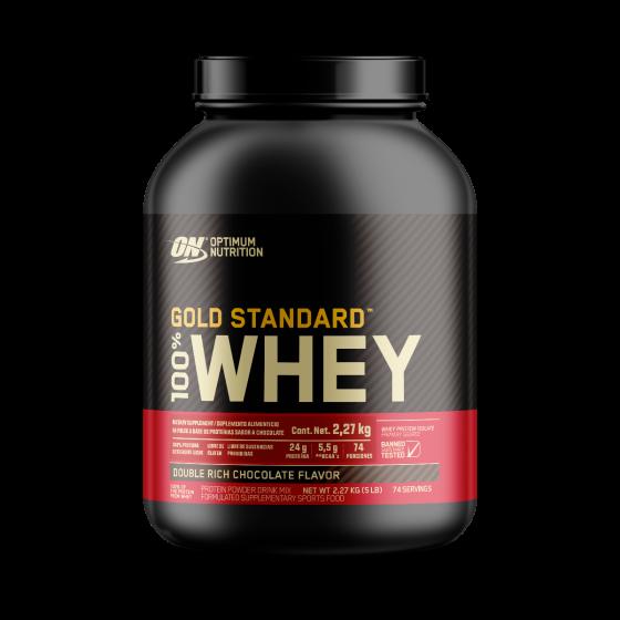 Optimum Nutrition Gold Standard 100% Whey Proteína de suero de leche Chocolate - 5 lb