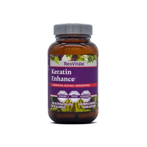 Resvitale Queratina, Biotina y Resveratrol - 60 Cápsulas