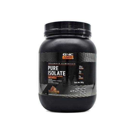 GNC AMP Pure Isolate Proteína aislada de suero de leche microfiltrada Chocolate - 2.13 lb