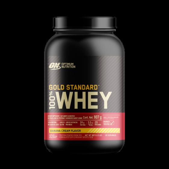 Optimum Nutrition Gold Standard 100% Whey Proteína de suero de leche Plátano - 2 lb