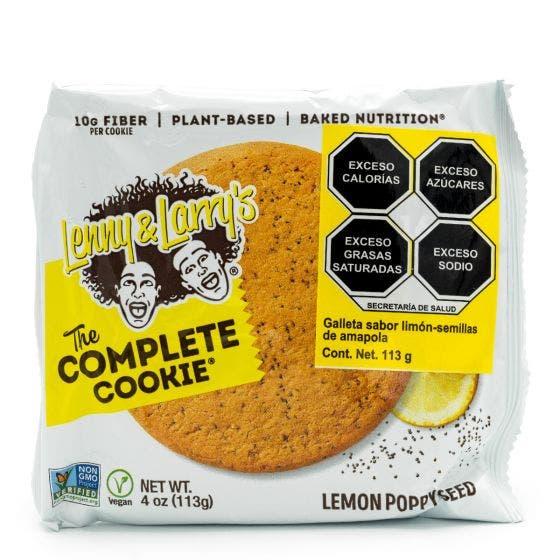 Lenny and Larry Galleta de Proteína Vegana Limón y Semillas de Amapola - 113 gr