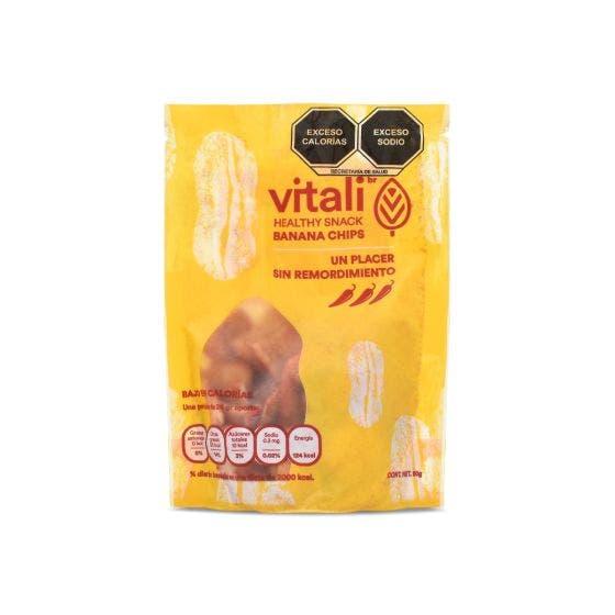 Vitalibr Snack de Chips de Plátano con Chile - 50 g