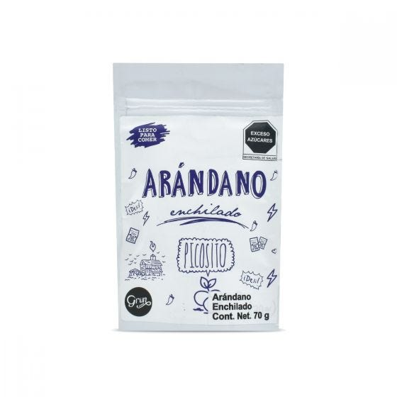 Grun Choice Snack de Arandano Enchilado - 70 gr