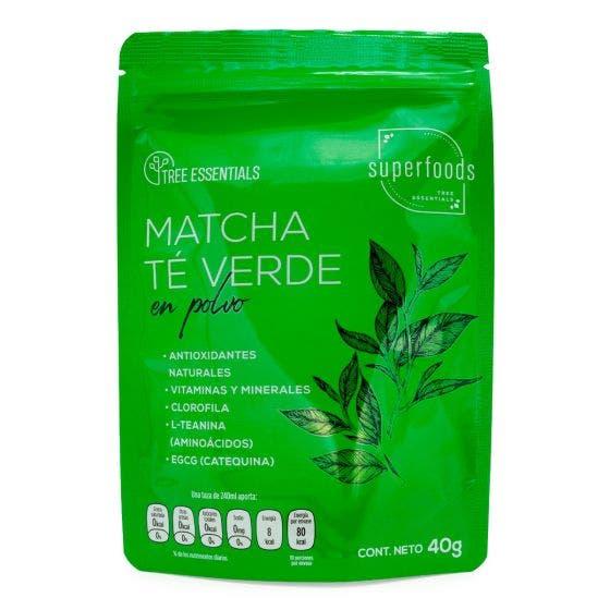 Tree Essentials Superfood Matcha Té Verde en Polvo - 40 gr