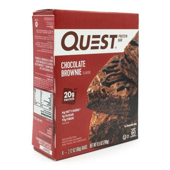 Quest Nutrition Barras de Proteína Brownie de Chocolate - 4 Paquetes