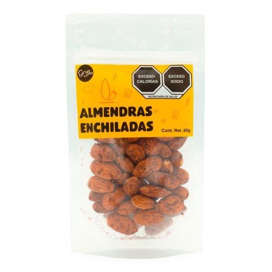 Grun Choice Snack de Almendras Enchiladas - 60 gr
