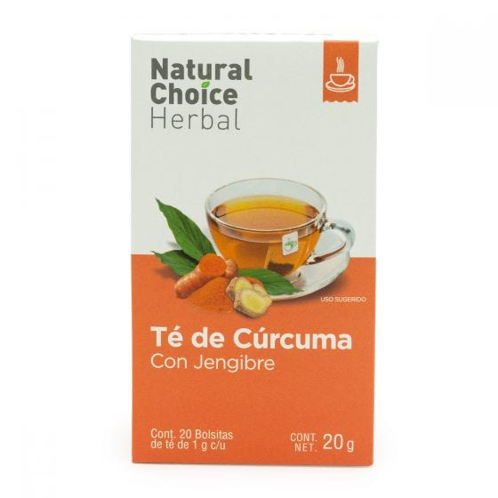 Natural Choice Herbal Té de Cúrcuma y Jengibre - 20 Bolsitas