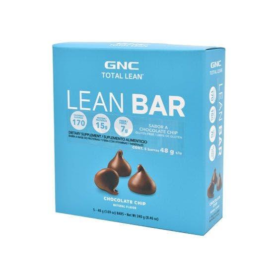 GNC Total Lean Barras de Proteína Chispas de Chocolate - 5 pzas.