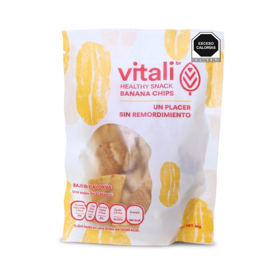 Vitalibr Chips de Platano Natural - 50 gr