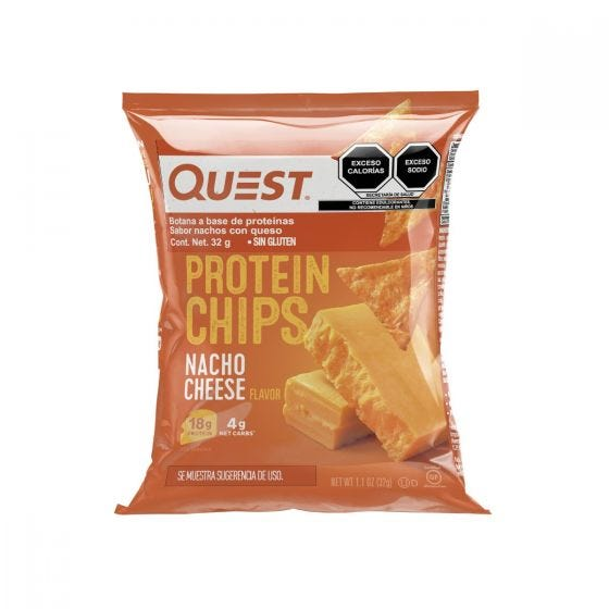 Quest Nutrition Snack Chips de Proteína Queso Nacho - 32 grs