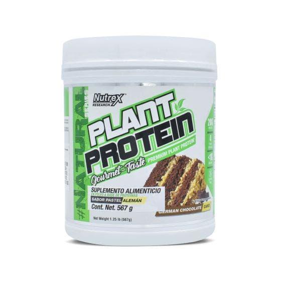 Nutrex Plant Protein Proteína Vegana Pastel Alemán - 567 Grs