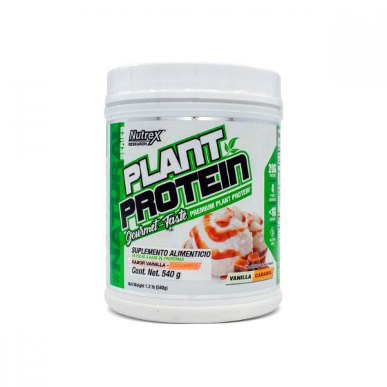 Nutrex Plant Protein Proteína Vegana Vainilla Caramelo - 540 grs