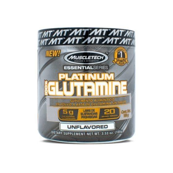 Muscletech Platinum 100% Glutamina - 100 gr