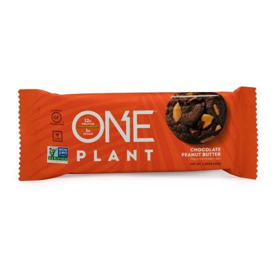 ONE PLANT Barra de Proteína Vegana Chocolate y crema de cacahuate - 45 grs