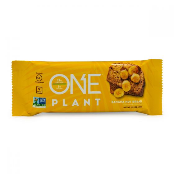 ONE PLANT Barra de Proteína Vegana Pan de nuez y Plátano - 45 grs