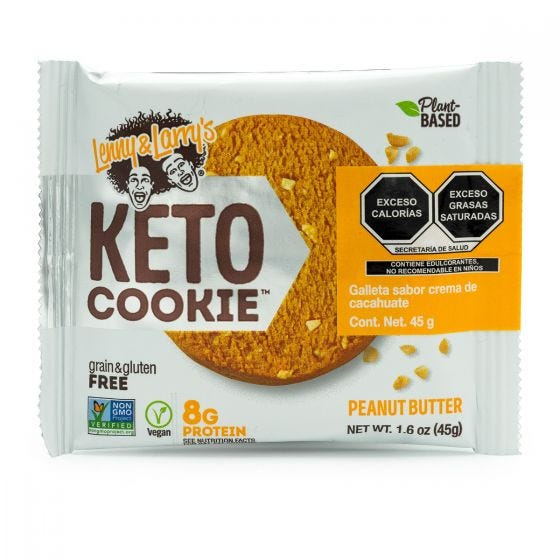 Lenny & Larry's Galleta Keto Snack Crema de Cacahuate - 45 grs