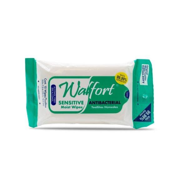 Walfort Toallitas Antibacteriales - 10 pzas