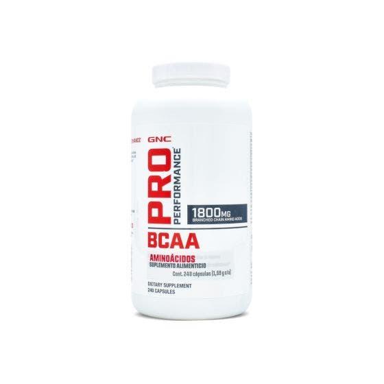 GNC BCAA Aminoácidos 1800 Mg - 240 Capsulas