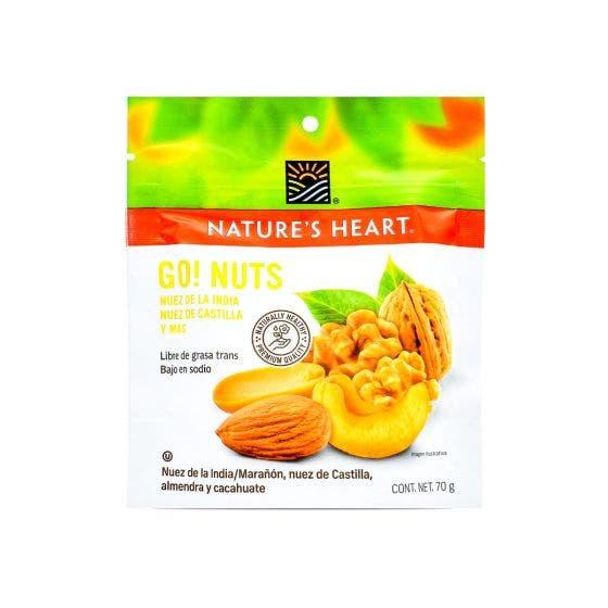 Terrafertil Nature´s Heart Go! Nuts Mix - 70 Gramos