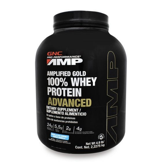 GNC Pro Performance AMP 100% Whey Advanced Proteína de suero de leche Vainilla - 4.9 lb