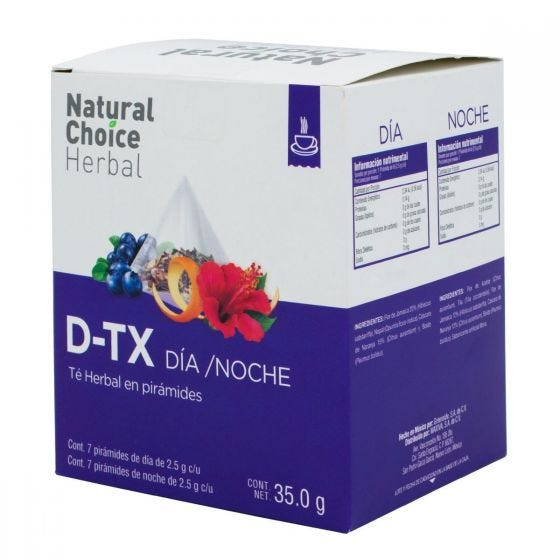Natural Choice Herbal Té D-Tox Dia Noche - 14 Pirámides