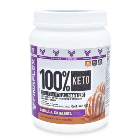 Finaflex 100 % Keto Food MCT y Aislado de Proteína Vainilla y Caramelo - 420 gr