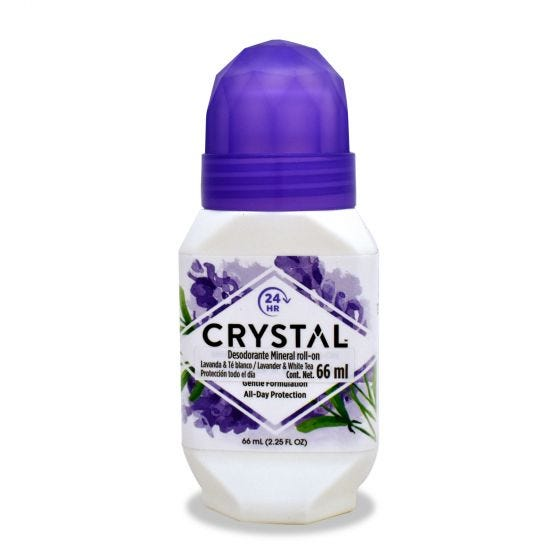 Crystal Desodorante Corporal en Roll-on -Lavanda - 2.25 oz