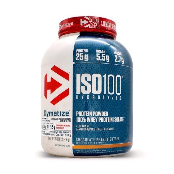Dymatize ISO 100 Proteína aislada de suero de leche Chocolate con Crema de Cacahuate - 5 lbs