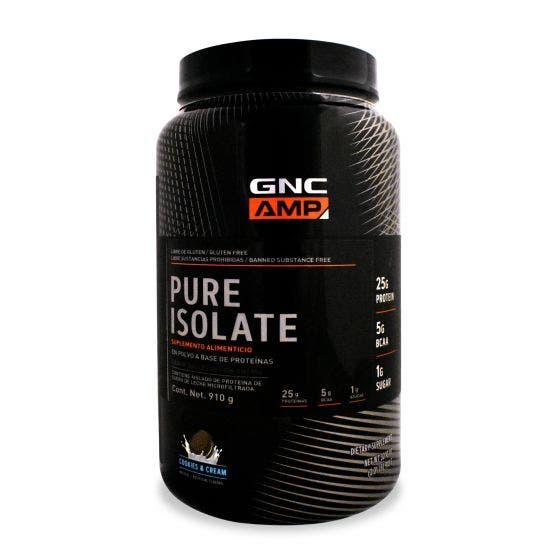 GNC AMP Pure Isolate Proteína aislada de suero de leche microfiltrada Galletas con Crema - 2 lb