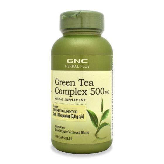 GNC Herbal Plus Té Verde 500 mg - 100 Cápsulas